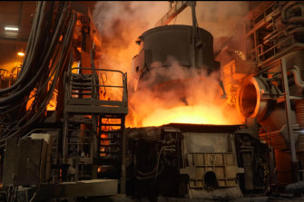 Green steel trials in a MolyCop furnace in Newcastle.