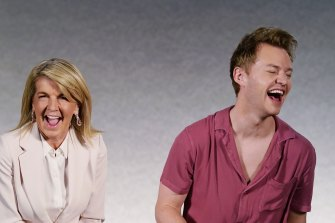 """Julie Bishop and Joel Creasey in Ten's """"fast and furious"""" current affairs show What The Hell Just Happened?"""
