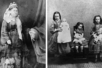 Matriarch Elizabeth Cairncross (nee Edmonstone) and three of the couple's seven daughters.