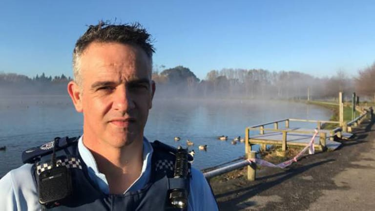 """""""Oh my god"""": Senior Sergeant Mike Sutton of Wairarapa Police."""