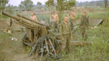 The 102 Field Battery the morning after the attack by the North Vietnamese Army.