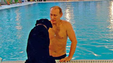 Russian President Vladimir Putin's black Labrador, Konni, accompanied him to a meeting with dog-fearing German chancellor Angela Merkel.