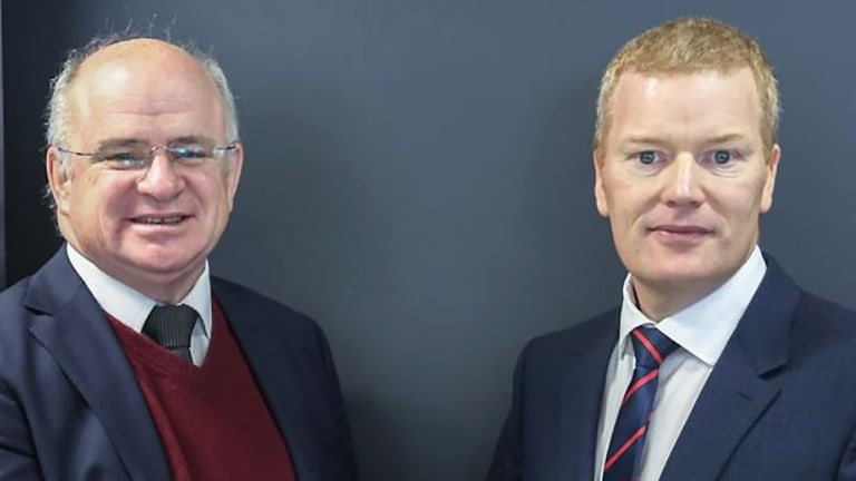 City of Parramatta Lord Mayor Andrew Wilson (left) and  CEO Mark Stapleton, whose work past is under scrutiny.