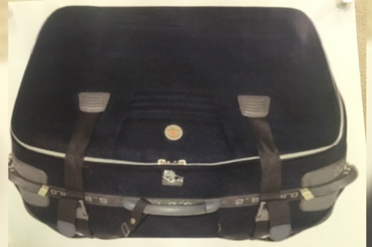 The suitcase found in the Swan River with Ms Chen's body inside it.