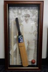 Sir Don Bradman's cricket bat.