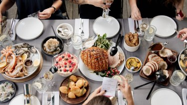 Know your limits when you sit down to eat this Christmas, nutritionists say.