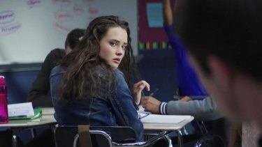 A scene from 13 Reasons Why, a Netflix series that deals with suicide and depression.