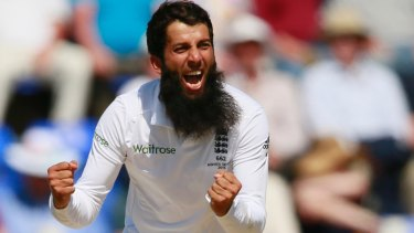 England's Moeen Ali during the first Test three years ago.