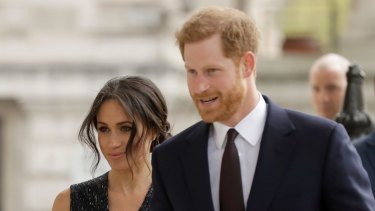 Upset by the loss: Meghan Markle and Prince Harry.