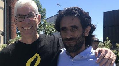 We were close, but finally I meet Behrouz face-to-face - as a free man
