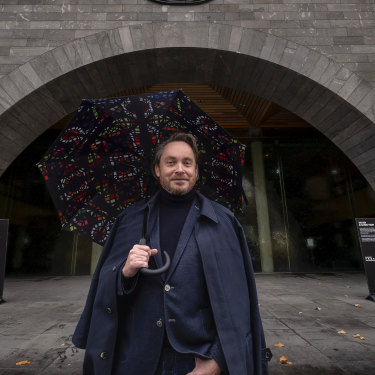 """""""My first thought was that I can see people walking through the gallery"""": director Tony Ellwood outside the National Gallery of Victoria."""