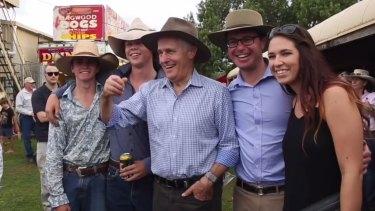 Malcolm Turnbull in his Akubra.