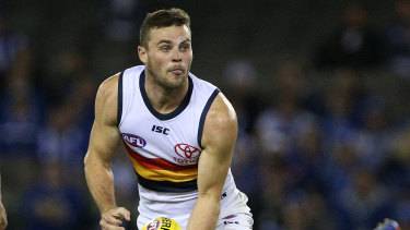 Brad Crouch gathered 39 disposals on the weekend.