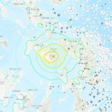 The shallow earthquake struck the Samar region of the Philippines on Tuesday.