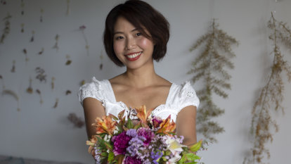 Flower power: Floral bouquets earn Nikki more than money can buy