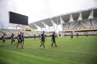 The new Townsville stadium.