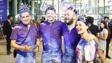 Australian fans arriving for the 64th Eurovision Song Contest in Tel Aviv-Yafo.