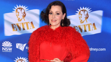 The star of the show: Tina Arena at the opening night of Evita at the Sydney Opera House on Tuesday.