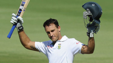 Wanting answers: Faf du Plessis.
