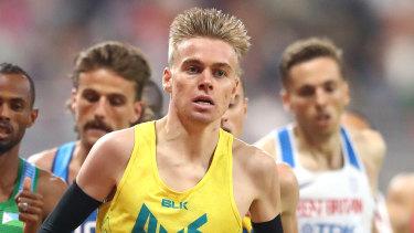 Tasmanian Stewart McSweyn is hunting a medal in the 1500m.