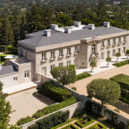 Once offered for as much as $350 million, the Bel-Air estate known as Chartwell just set the record for the priciest residential sale in California history at about $150 million. Credit: Jim Bartsch via TCA *SINGLE USE ONLY