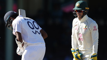 Testy: Australian captain Tim Paine was contrite after his exchange with Ravichandran Ashwin.