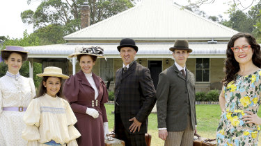 Annabel Crabb (right) hosts Further Back in Time for Dinner on ABC.