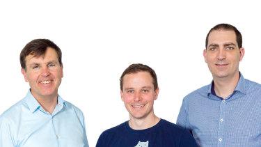The founders of Evari:Daniel Fogarty,Brack Norris andRobert Jeffery.