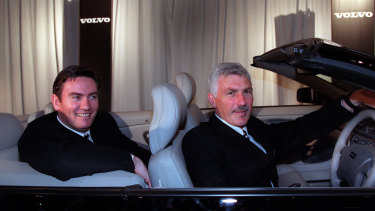 Driver's seat: Eddie McGuire poached coaching great Mick Malthouse from West Coast.