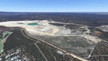 The former Alcoa coal mine as it looks today.