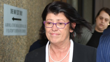 Magistrate Dominique Burns pictured leaving court in Sydney last year.