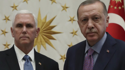 Pence, Erdogan meet after Trump sends unusual 'tough guy' letter