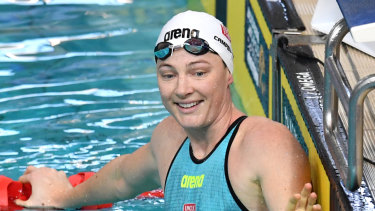 Relaxed: Cate Campbell was pleased to get her campaign underway.