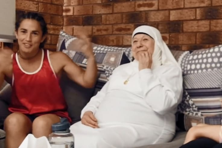 Bianca with her grandmother Amira Rahman in a scene from the documentary.
