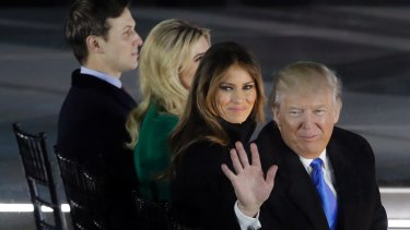President Donald Trump and his wife Melania Trump along with Ivanka Trump and her husband Jared Kushner were at the dinner.