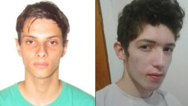 The suspected attackers: Luiz Henrique de Castro and Guilherme Taucci Monteiro.