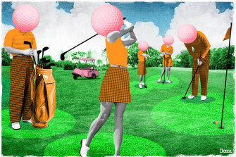 Swinging into golf: more people are playing the game.