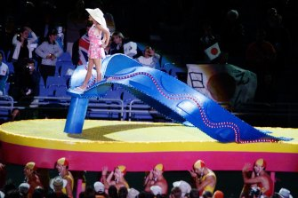 Bombora played as Kylie Minogue stood astride a thong during the closing ceremony of the 2000 Sydney Olympics.