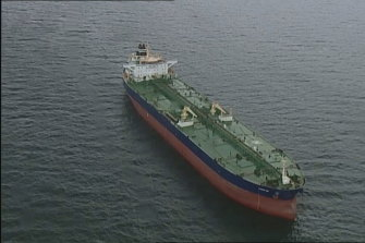 The MV Kanpur was off Beaumaris on Tuesday afternoon.