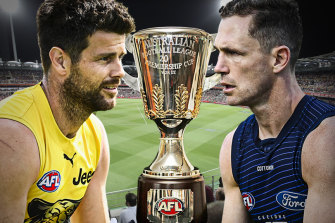 AFL grand final live updates: Tigers, Cats square off at the Gabba