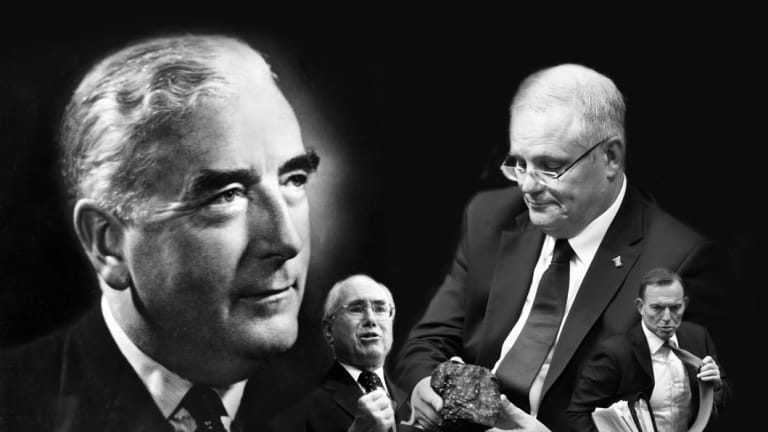Following the leaders ... Robert Menzies, John  Howard, Scott Morrison and Tony Abbott.