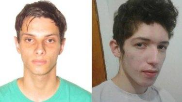 The suspected attackers: Luiz Henrique de Castro and Guilherme Taucci Monteiro.