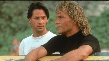 Patrick Swayze played big-wave addict 'Bodhi' in the 1991 film.