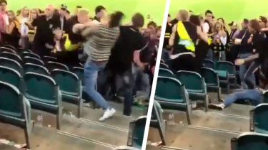 'Really frightening': MCG brawlers face ban after fight