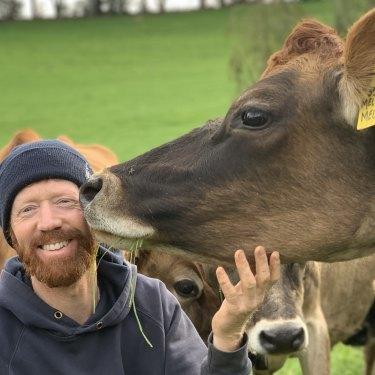 """Luke Wallace says farming is """"still hard yakka"""", but new tech comes in handy."""