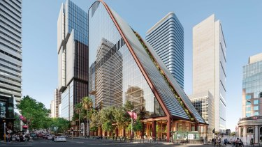 The 27-storey, sloped structure proposed to replace the MLC.