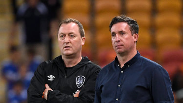 Robbie Fowler (right) and his assistant Tony Grant have left Brisbane Roar for family reasons.