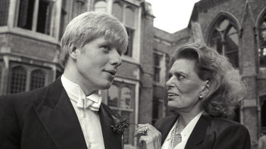 Boris Johnson, during his time as president of the Oxford Union, with then Greek minister for culture Melina Mercouri.