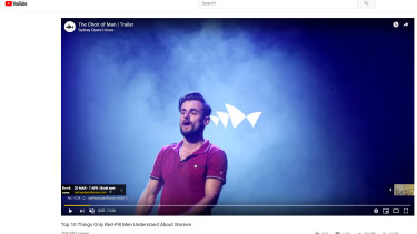 The Sydney Opera House's advertisements for upcoming show The Choir of Man has been running in front of YouTube videos that criticise single and working mothers.