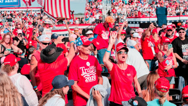 Big crowds have gathered for Trump campaign rallies in Florida, a state the President needs to win.